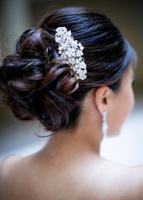 39 элегантных свадебных причесок   29