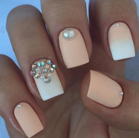 38 идей матового маникюра на короткие квадратные ногти 30