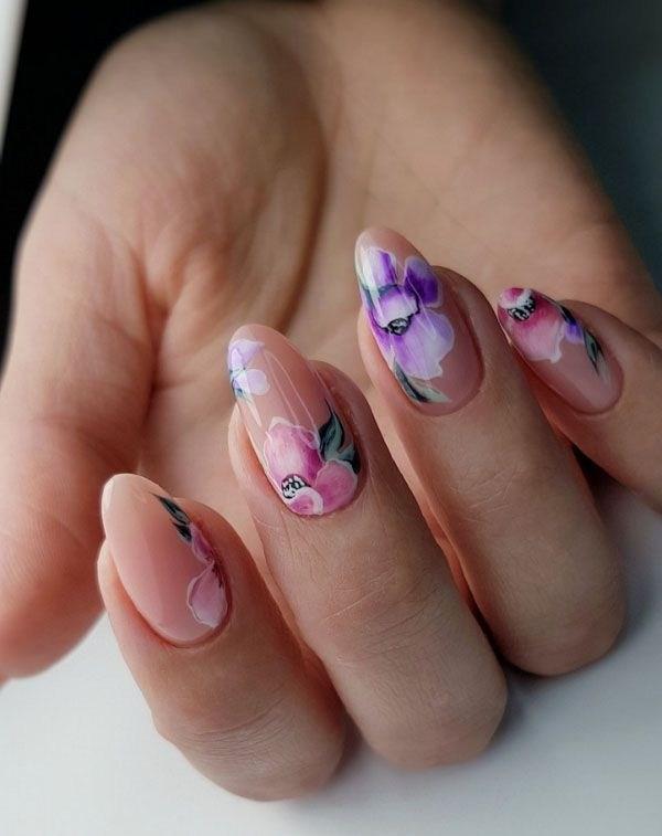 39 обворожительных идей дизайна ногтей на предстоящую весну | 3