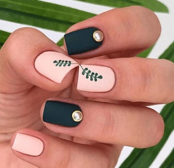 38 идей матового маникюра на короткие квадратные ногти 03