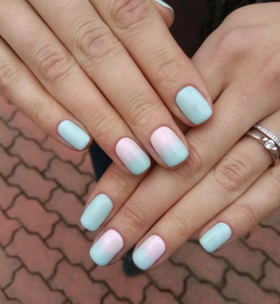 Идеи ежедневного маникюра на короткие квадратные ногти | 30