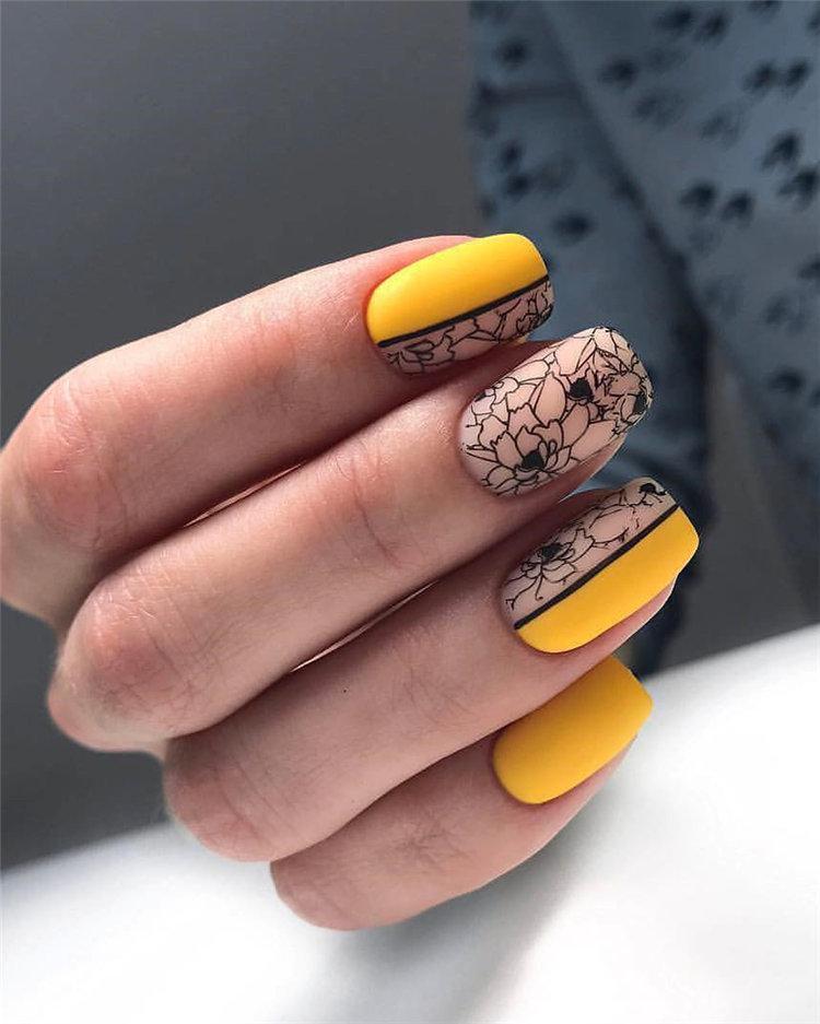 50 идей дизайна ногтей гель-лаком | 32