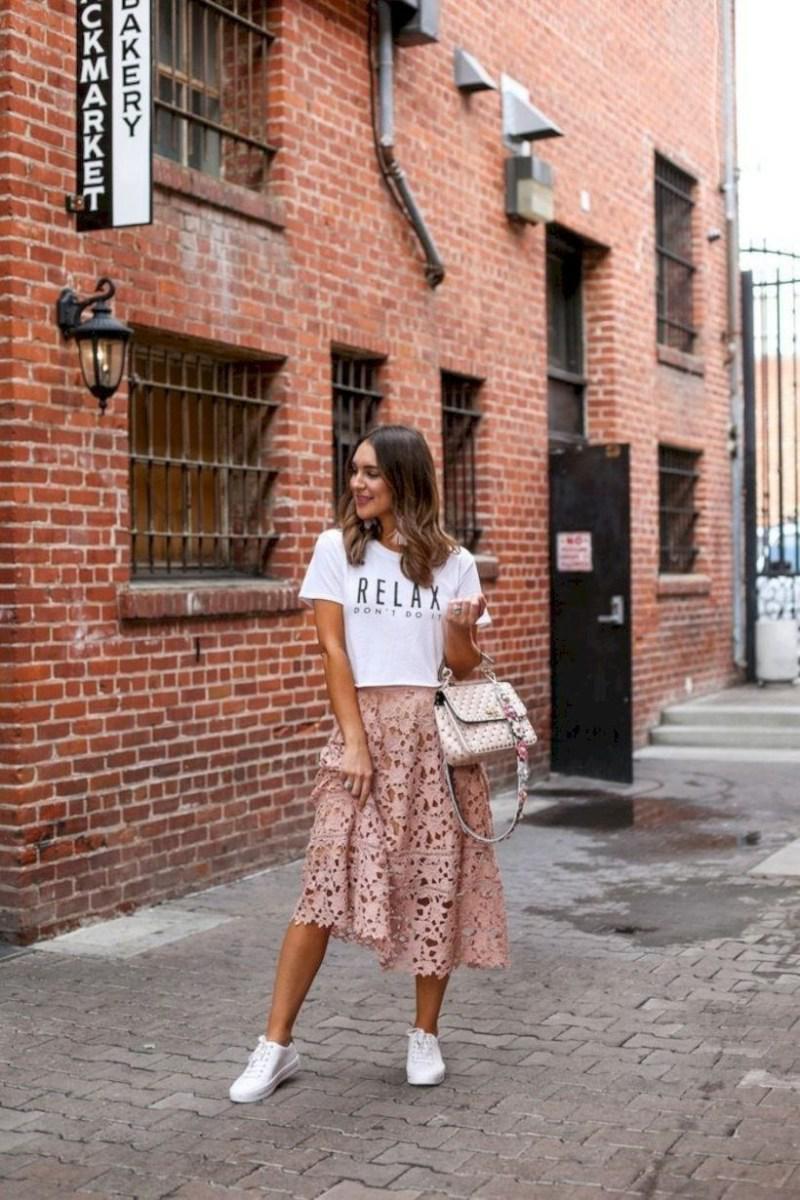 37 весенних образов с модными юбками которые вы должны попробовать | 32