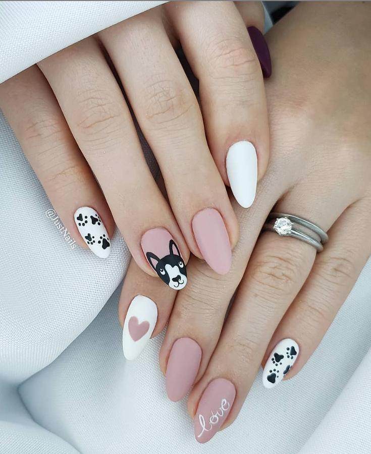 Модные идеи дизайна на овальные ногти | 33