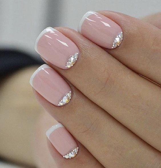 Идеи ежедневного маникюра на короткие квадратные ногти | 33