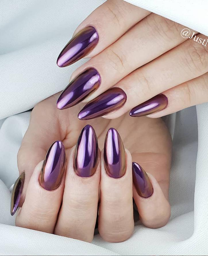 Модные идеи дизайна на овальные ногти | 34