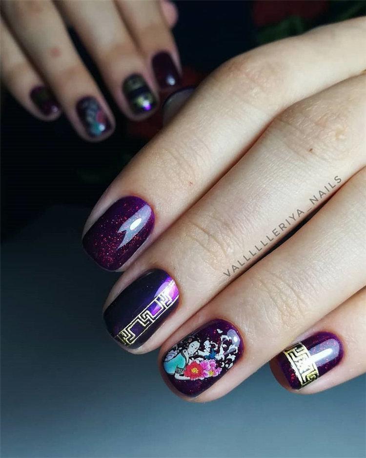 50 идей дизайна ногтей гель-лаком | 35