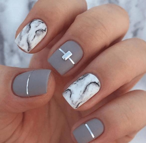 38 идей матового маникюра на короткие квадратные ногти 36