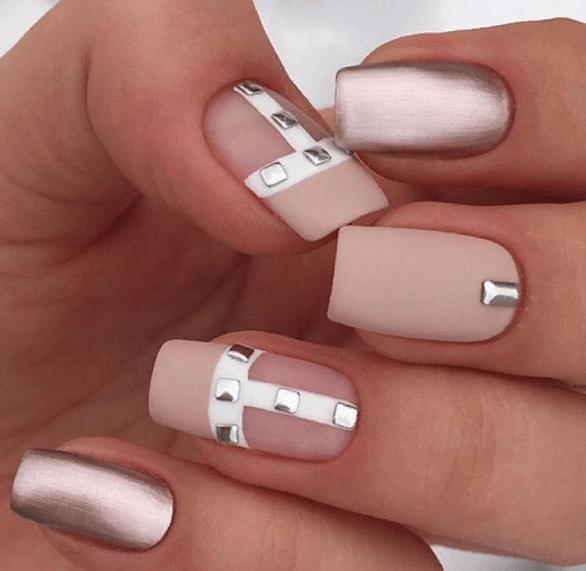 38 идей матового маникюра на короткие квадратные ногти 38