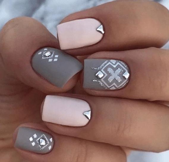38 идей матового маникюра на короткие квадратные ногти 04