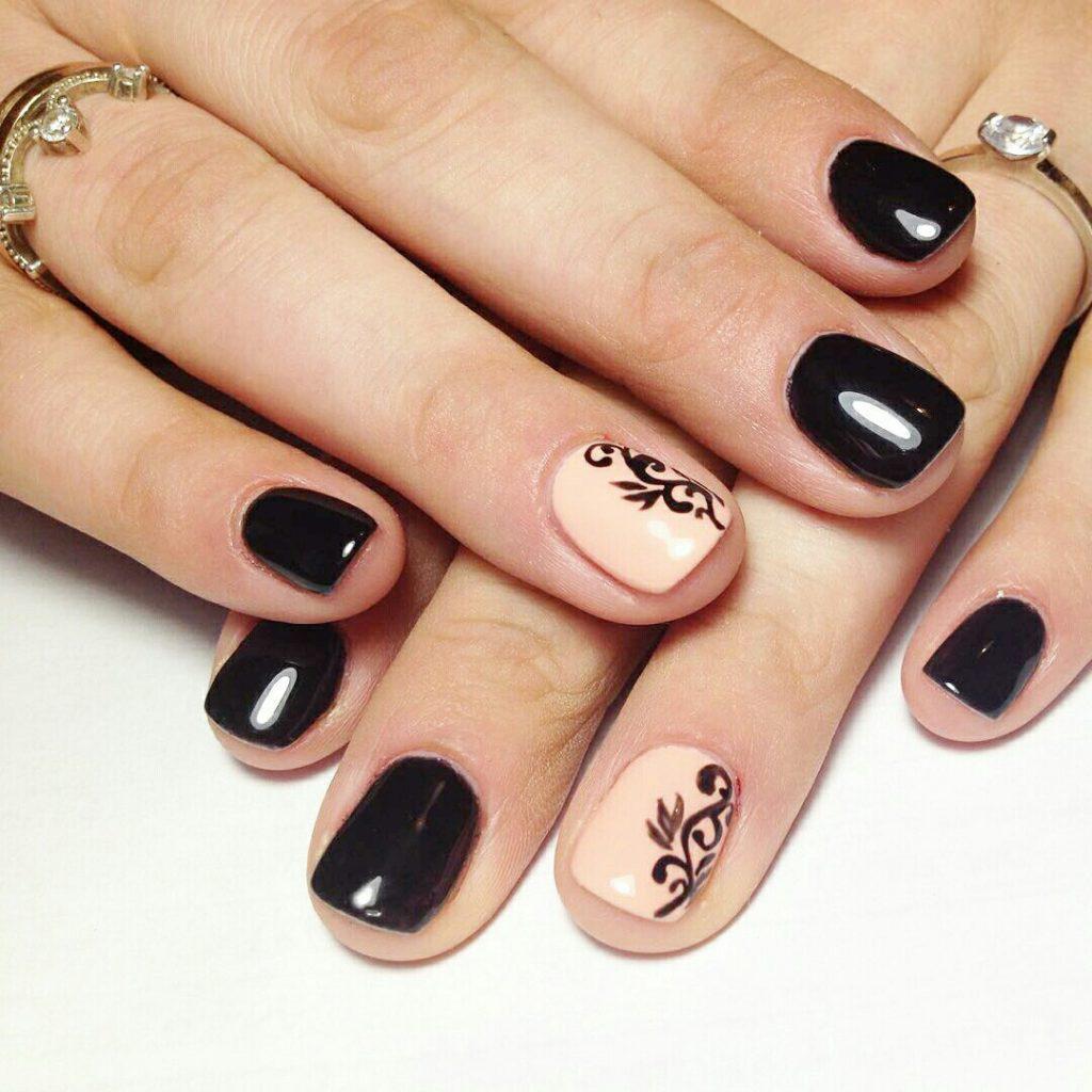 Идеи ежедневного маникюра на короткие квадратные ногти | 4