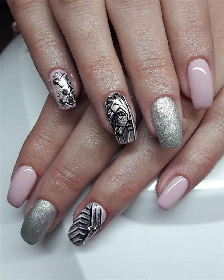 50 идей дизайна ногтей гель-лаком | 46