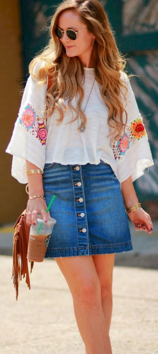 37 весенних образов с модными юбками которые вы должны попробовать | 5