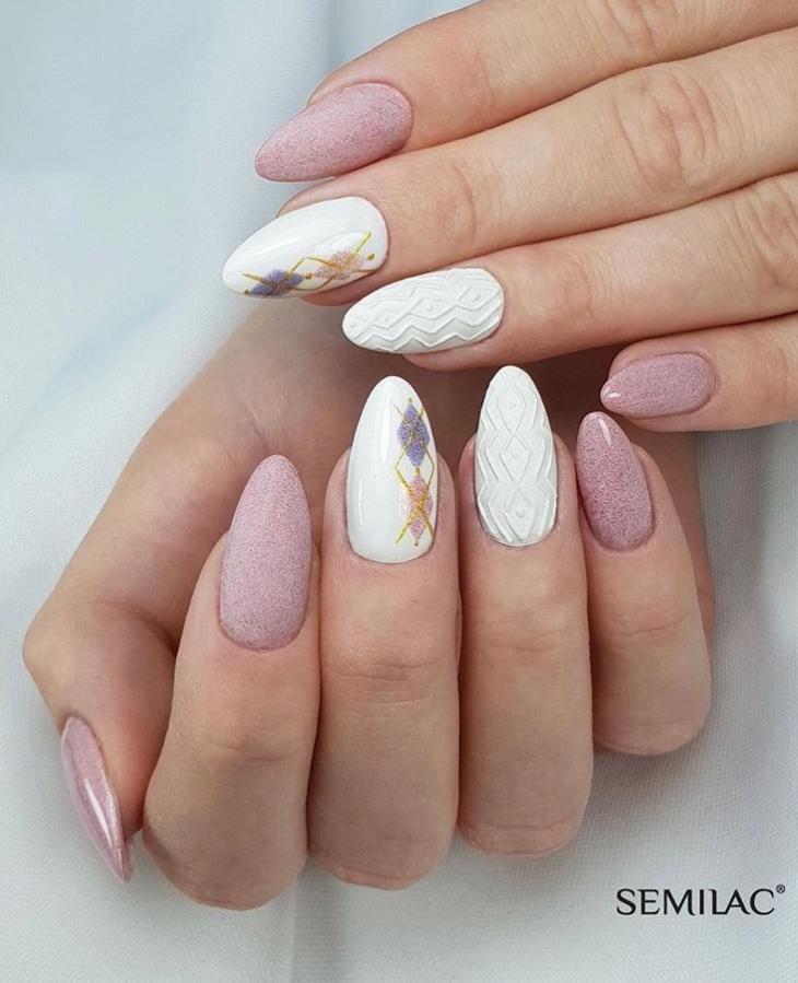 Модные идеи дизайна на овальные ногти | 6