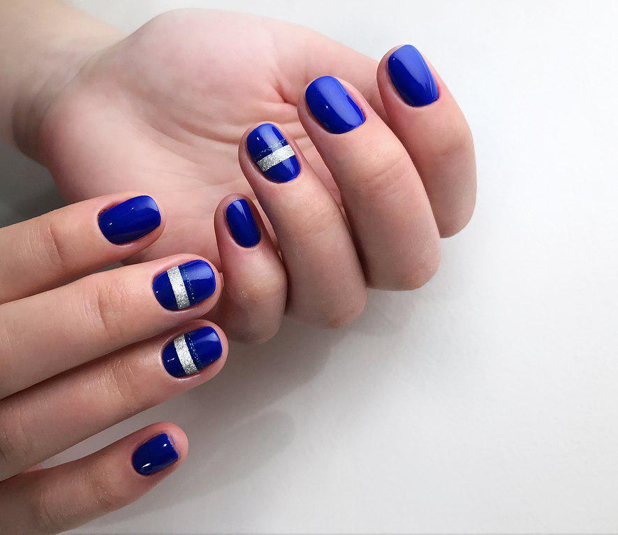 Идеи ежедневного маникюра на короткие квадратные ногти | 6