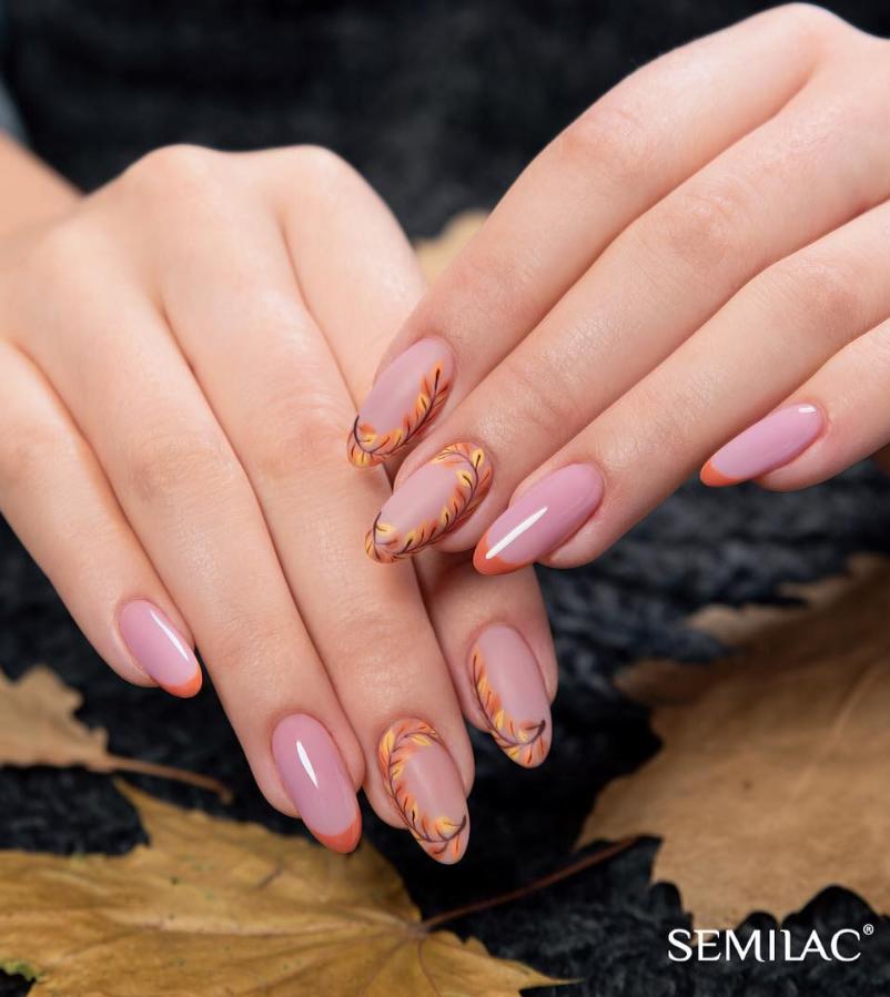 Модные идеи дизайна на овальные ногти | 7