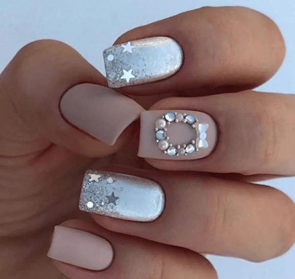 38 идей матового маникюра на короткие квадратные ногти 09