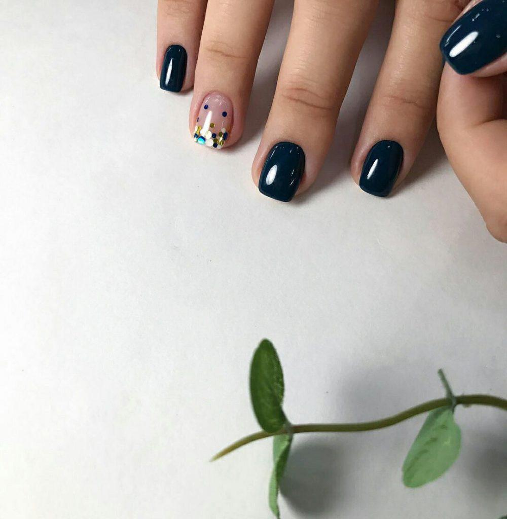 Идеи ежедневного маникюра на короткие квадратные ногти | 9