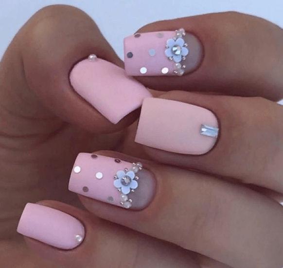 38 идей матового маникюра на короткие квадратные ногти 10
