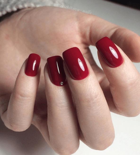 Красный маникюр на выпускной вечер: лучшие идеи 2019 | 11