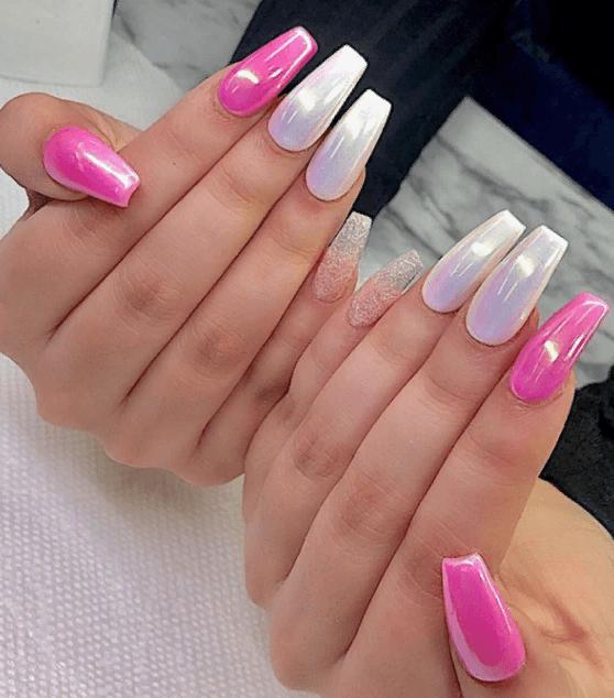 Невероятно красивые идеи летнего маникюра 2019 на ногти-пуанты | 16