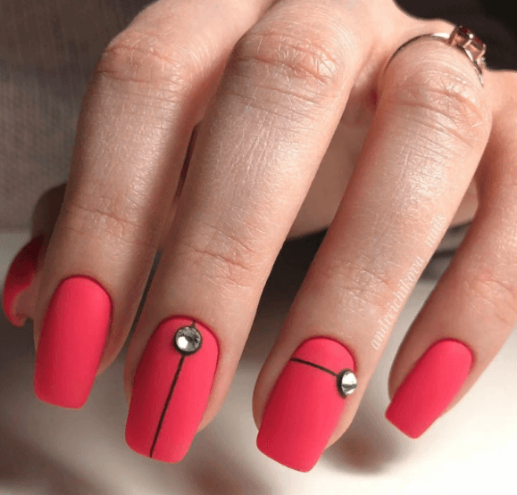 Красный маникюр на выпускной вечер: лучшие идеи 2019 | 16