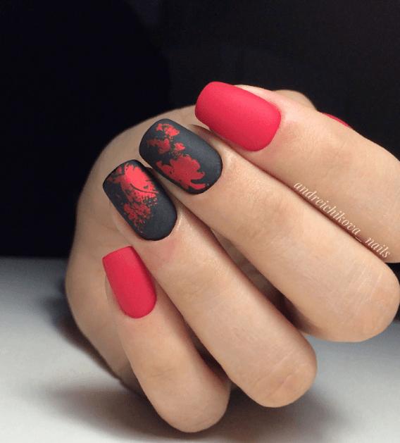 Красный маникюр на выпускной вечер: лучшие идеи 2019 | 21