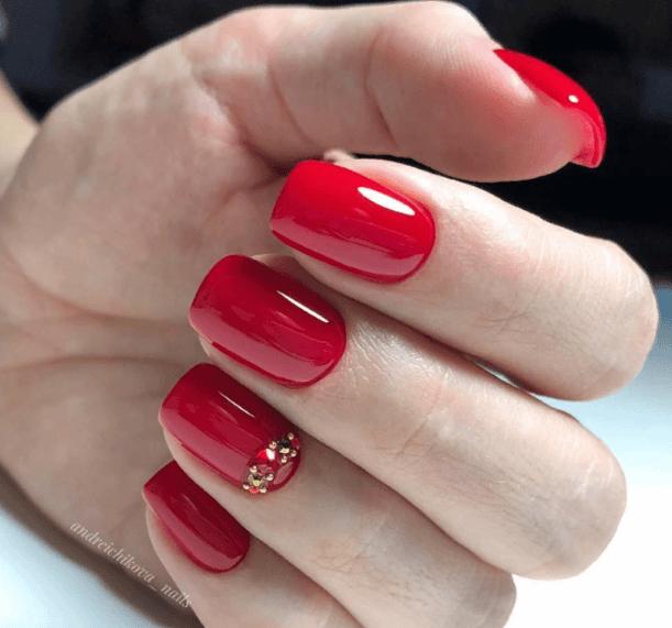 Красный маникюр на выпускной вечер: лучшие идеи 2019 | 24