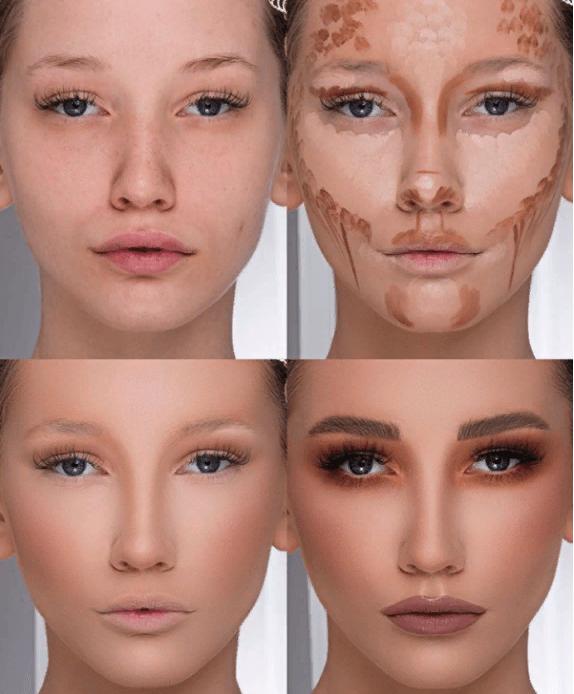 Вечерний контурный макияж: пошаговые инструкции | 3