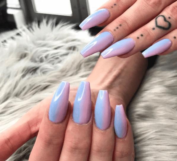 Невероятно красивые идеи летнего маникюра 2019 на ногти-пуанты | 32