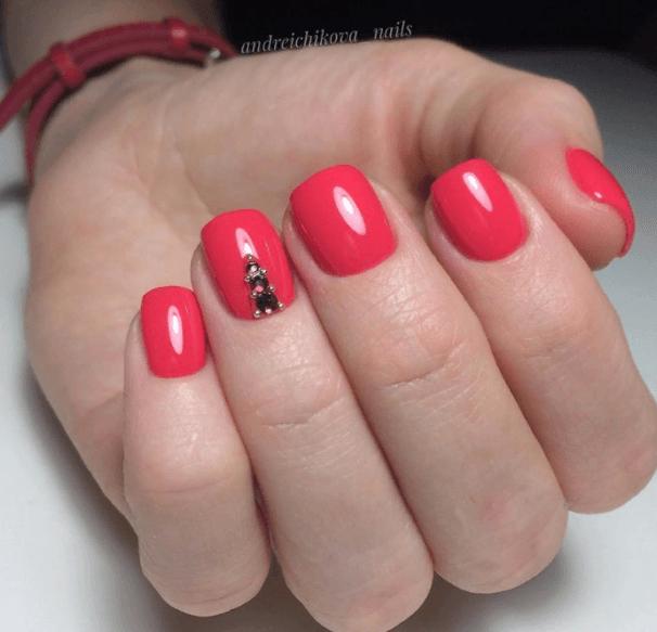 Красный маникюр на выпускной вечер: лучшие идеи 2019 | 34