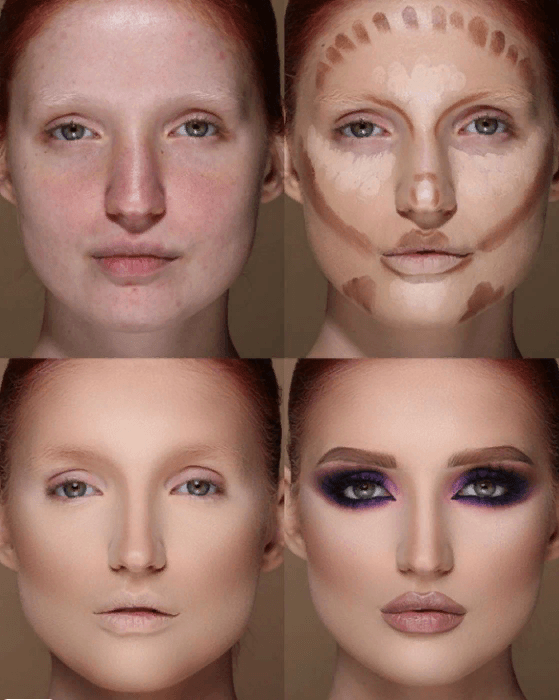 Вечерний контурный макияж: пошаговые инструкции | 4
