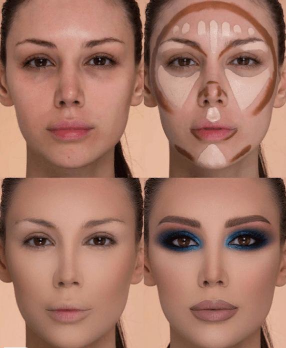 Вечерний контурный макияж: пошаговые инструкции | 5