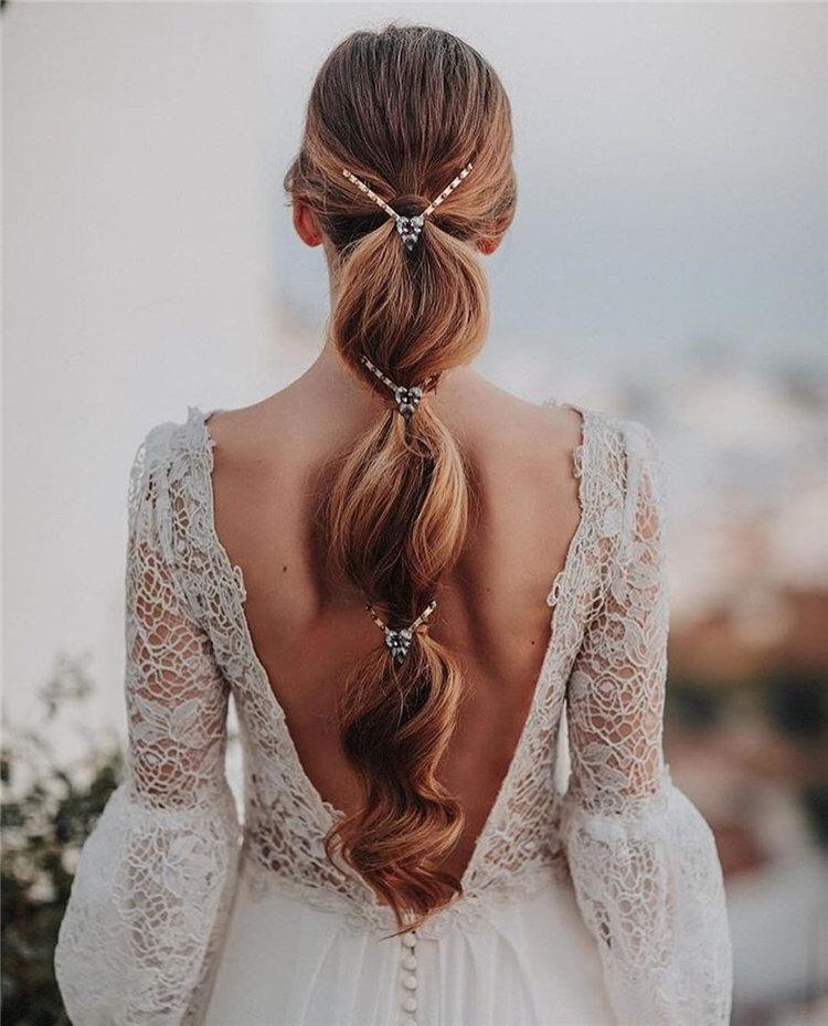 70+ свадебных причесок 2019 | 51