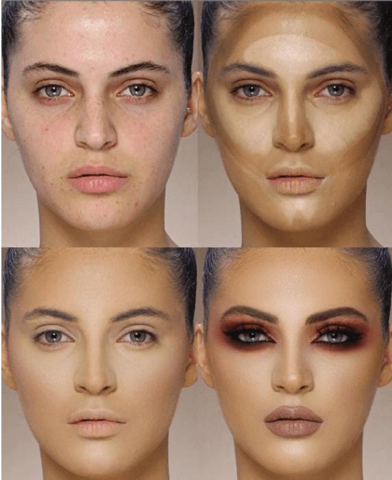 Вечерний контурный макияж: пошаговые инструкции | 6