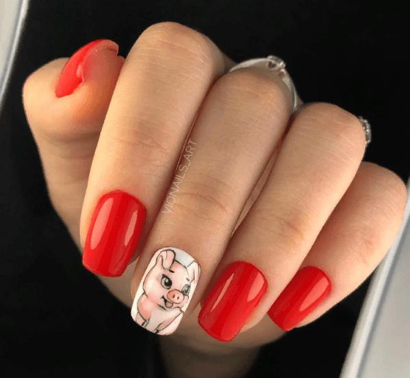 Красный маникюр на выпускной вечер: лучшие идеи 2019 | 7