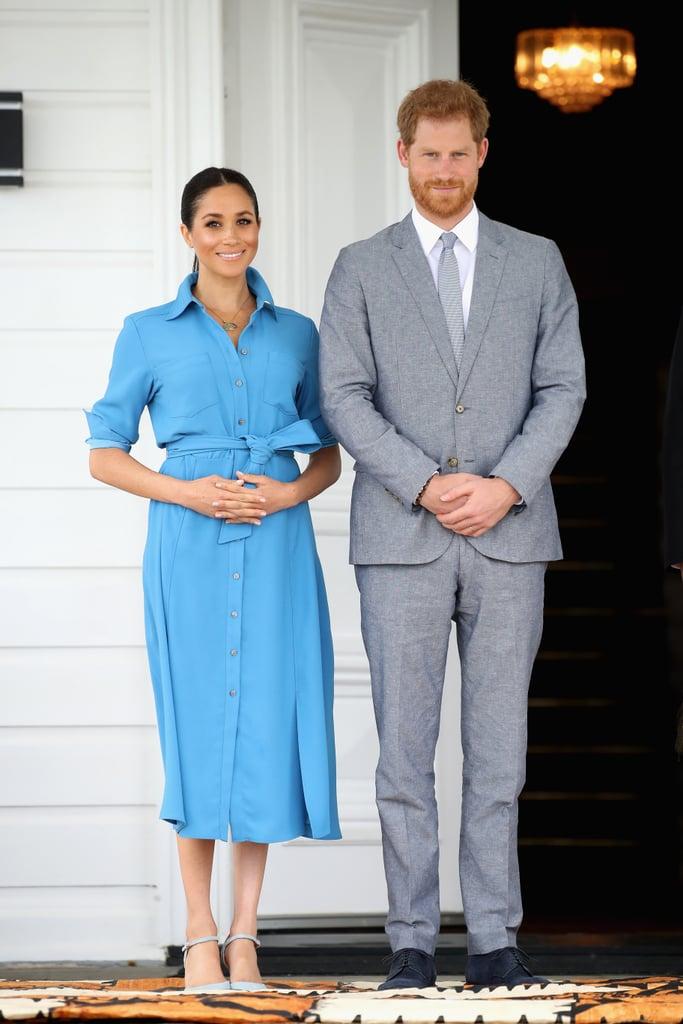 Почему Меган Маркл во время беременности предпочитала синий цвет? image4