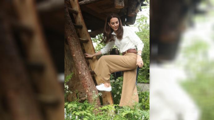Кейт Миддлтон облачилась в широкие брюки