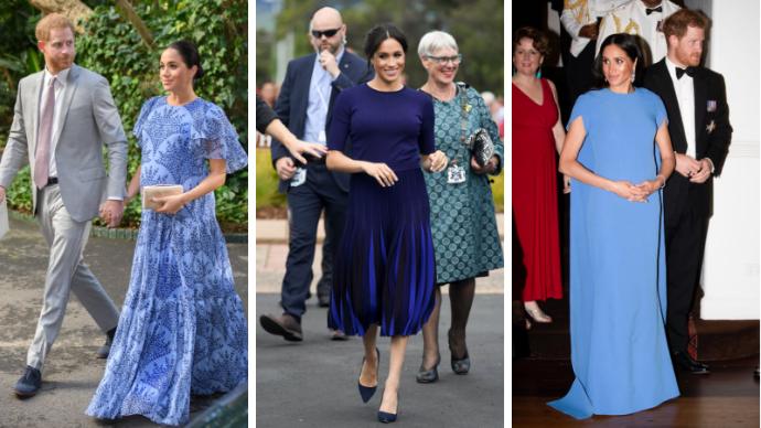 Почему Меган Маркл во время беременности предпочитала синий цвет?