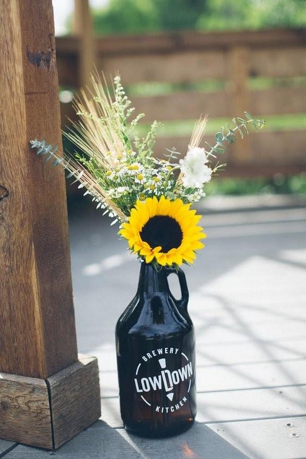 Свадебный декор из подсолнуха для самой солнечной свадьбы - image10