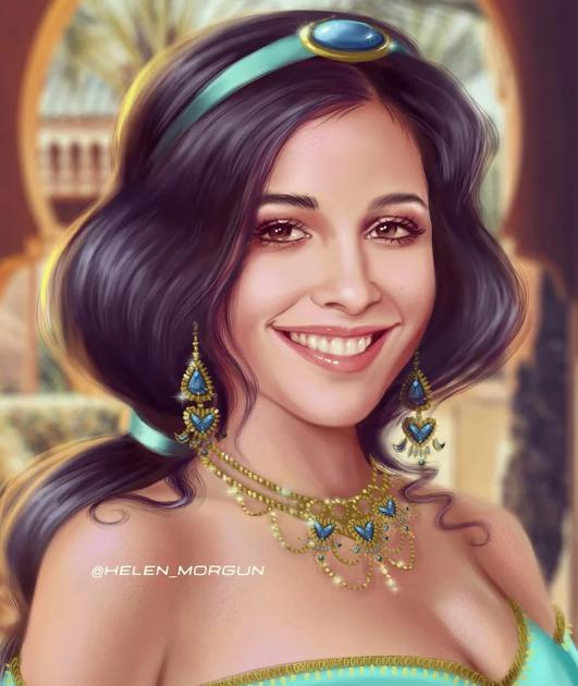 Украинская художница представила знаменитостей в роли диснеевских принцесс - image10