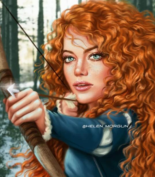 Украинская художница представила знаменитостей в роли диснеевских принцесс - image11
