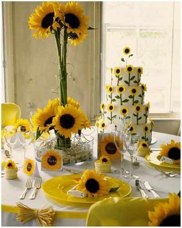 Свадебный декор из подсолнуха для самой солнечной свадьбы - image15