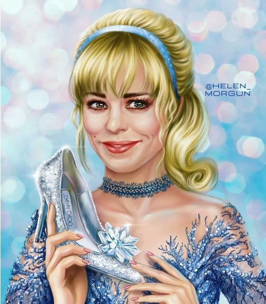Украинская художница представила знаменитостей в роли диснеевских принцесс - image15