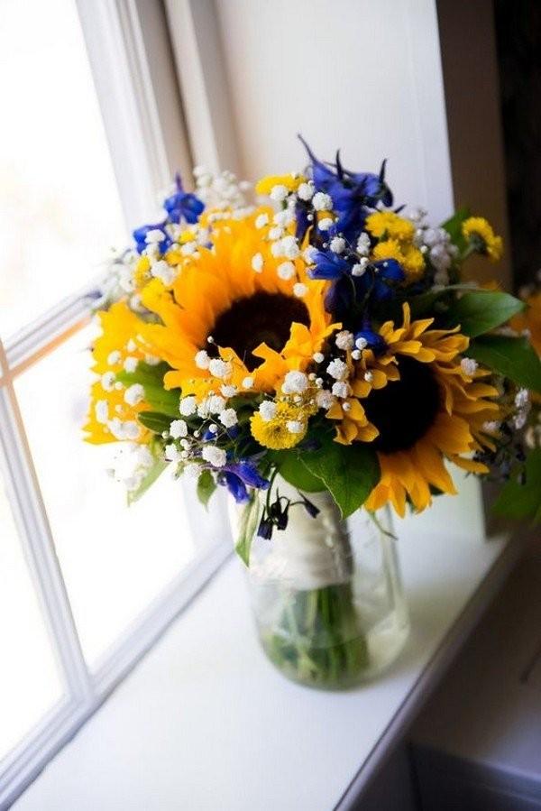 Свадебный декор из подсолнуха для самой солнечной свадьбы - image19