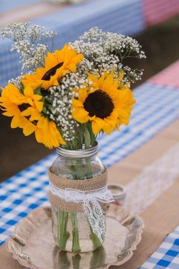 Свадебный декор из подсолнуха для самой солнечной свадьбы - image20