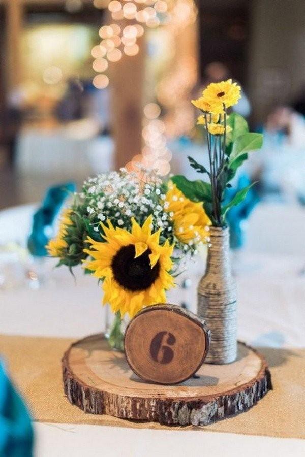 Свадебный декор из подсолнуха для самой солнечной свадьбы - image21