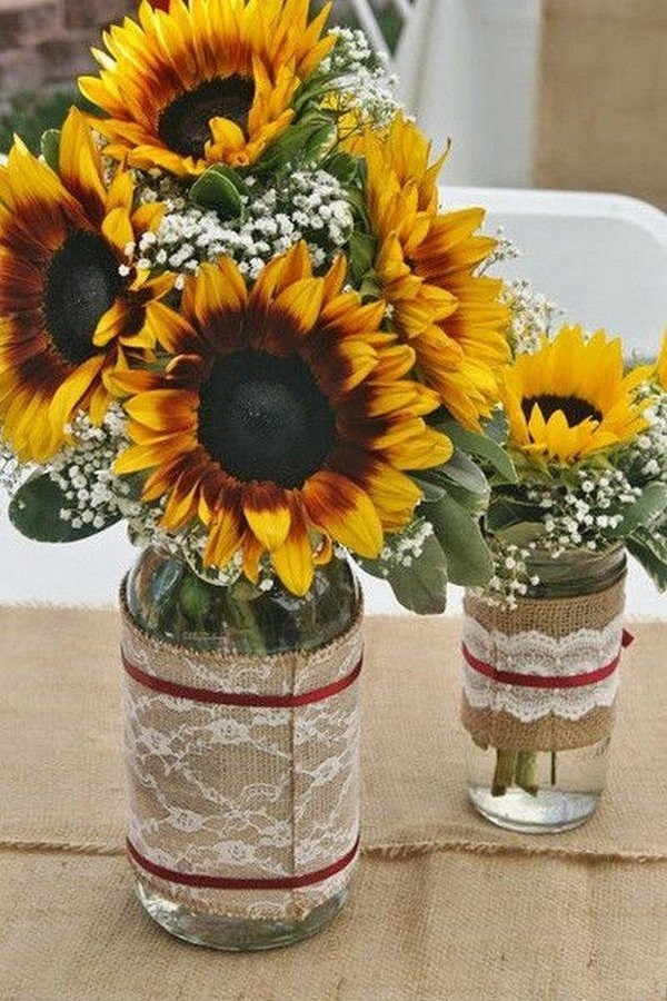 Свадебный декор из подсолнуха для самой солнечной свадьбы - image22