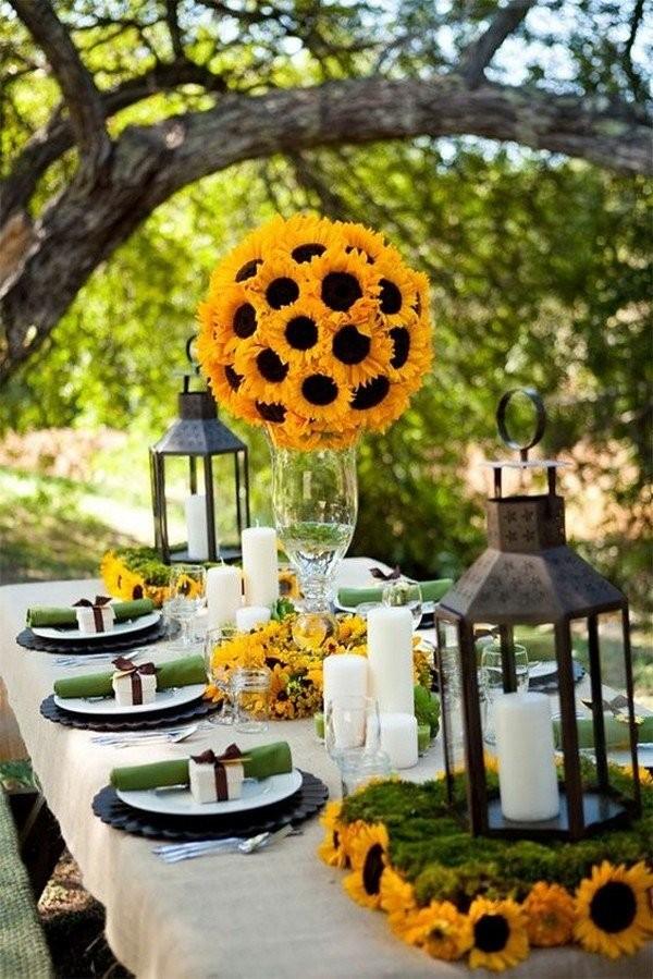 Свадебный декор из подсолнуха для самой солнечной свадьбы - image26