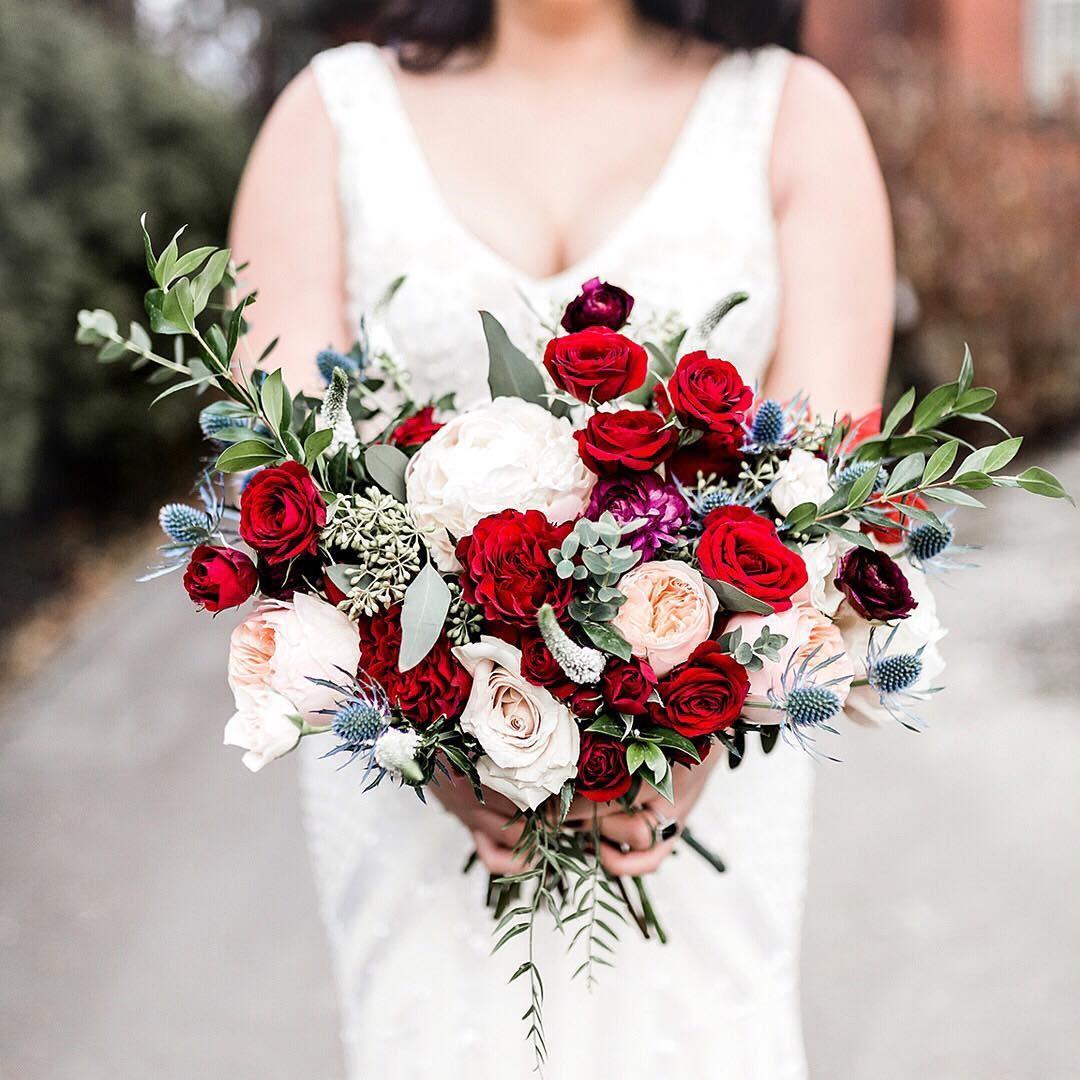 Свадебные букеты для самых красивых невест: модные тенденции 2019 | 27